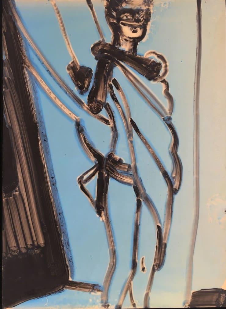 Ilona Szalay Blue 4, 2019 Oil on panel 53x39cm