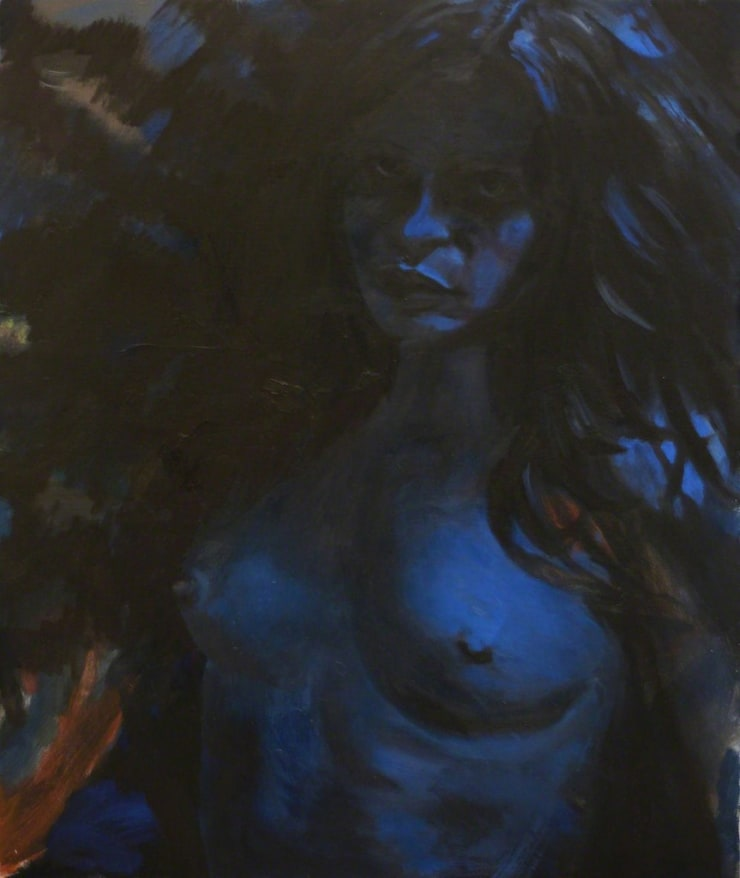 Markus Vater Uschi Obermaier oil on canvas 29 9/10 × 24 2/5 in76 × 62 cm