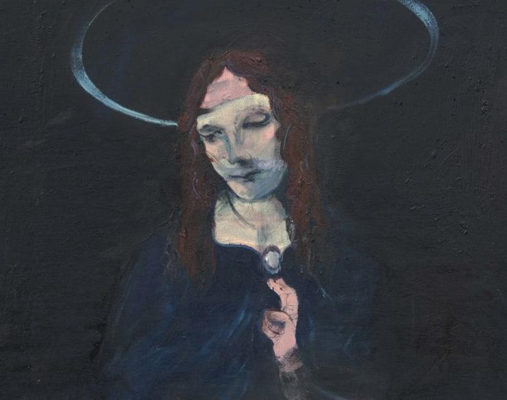 Blair McLaughlin Madonna and the Holy Trinity, 2017 Oil on canvas 25 3/5 × 17 7/10 in 65 × 45 cm
