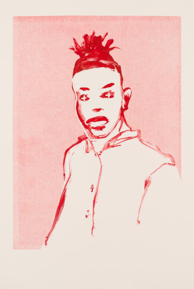 Shelly Tregoning Unspoken, 2019 Monoprint 53.5 x 38 cm