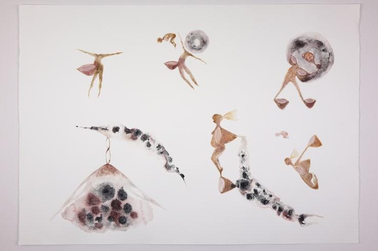 Kate Walters Spirit Cups , 2018 Watercolour 50 x 72 cm