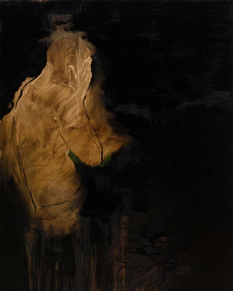 Shelly Tregoning Black Narcissi, 2017 oil on linen 59 4/5 × 48 in152 × 122 cm