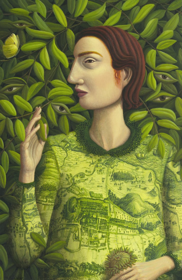 Helen Flockhart I See And Keep Silent, 2018 oil on board 40 x 26cm