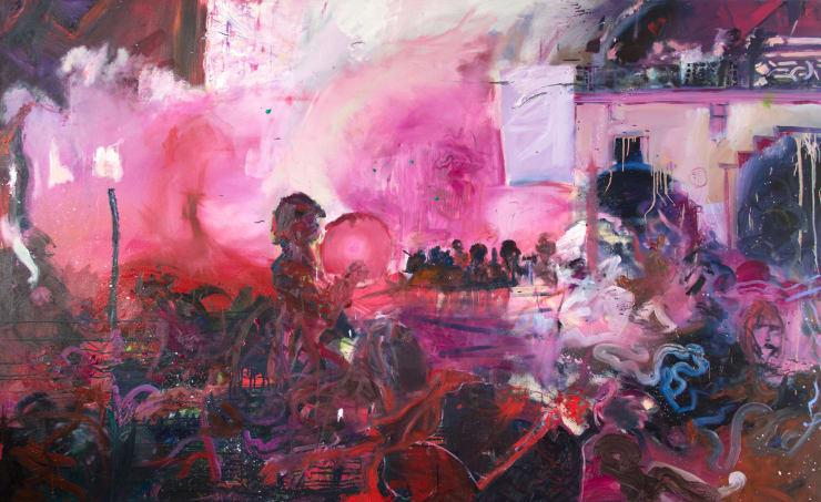 Blair McLaughlin Holi, 2017 Oil on canvas 63 × 102 2/5 × 1 3/5 in 160 × 260 × 4 cm