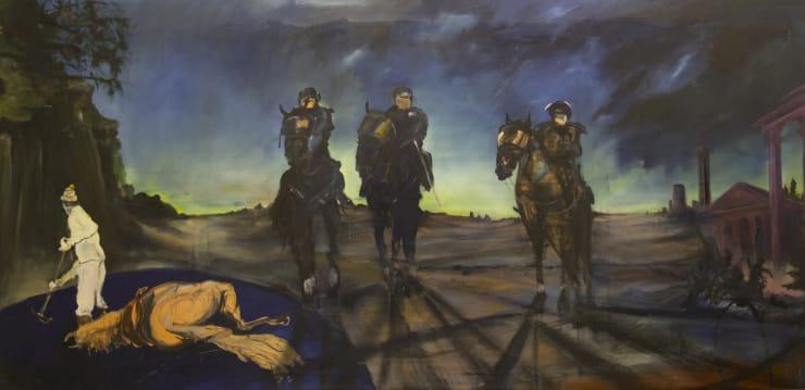 Blair McLaughlin Ascension, 2017 Oil on canvas 63 × 129 9/10 in 160 × 330 cm