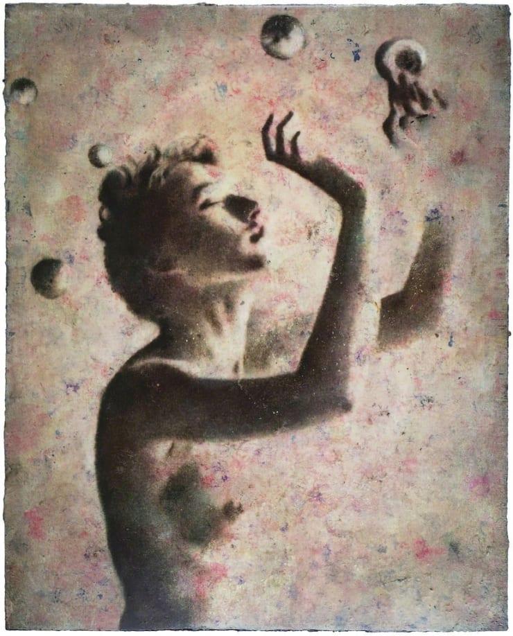 Fiona Finnegan Anna's Dream oil on board 15 7/10 × 12 3/5 in40 × 32 cm