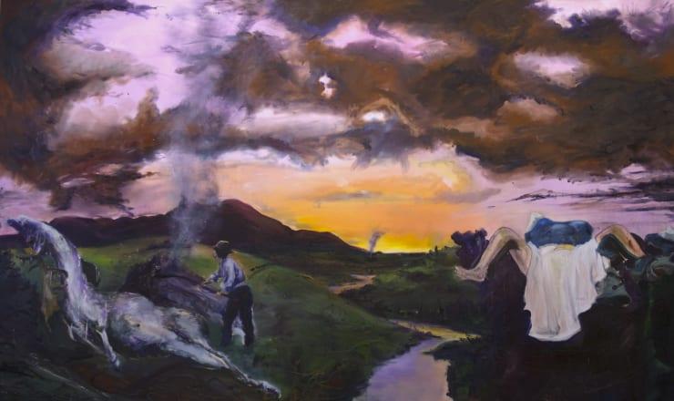 Blair McLaughlin Disintegration IV, 2018 Oil on canvas 63 × 102 2/5 in 160 × 260 cm
