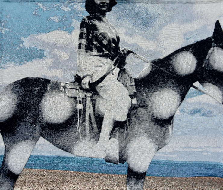 Elizabeth Stewart She Rode a Polkadot Mare, 2019 Tapestry, digitally woven and hand appliquéd cotton 126 x 149 cm