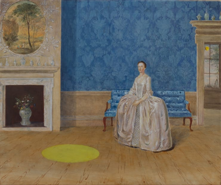 Morwenna Morrison Lady Penn's Drawing Room Encounter, 2019 Oil on board 50 x 60 cm