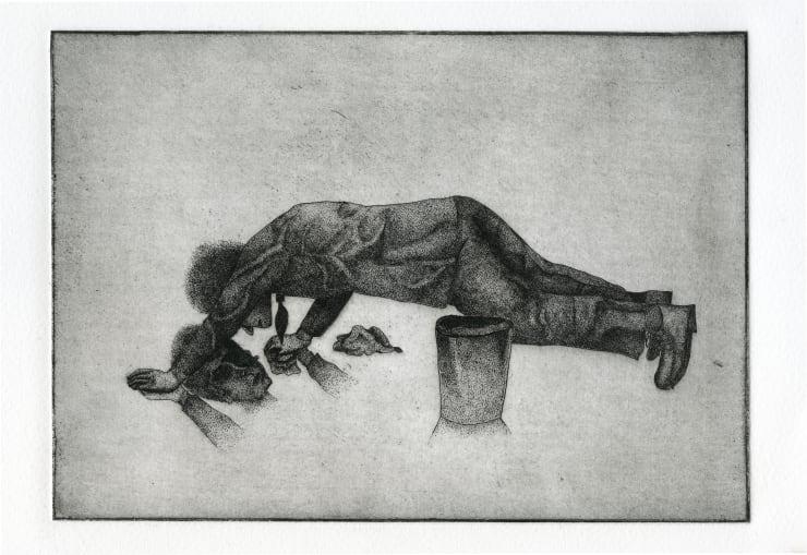 Thomas Adam Polish, 2018 Etching 22 x 28 cm