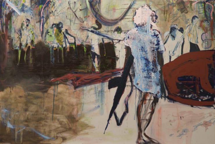 Blair McLaughlin Tableau Vivant, 2015 Oil on canvas 68 9/10 × 104 3/10 in 175 × 265 cm