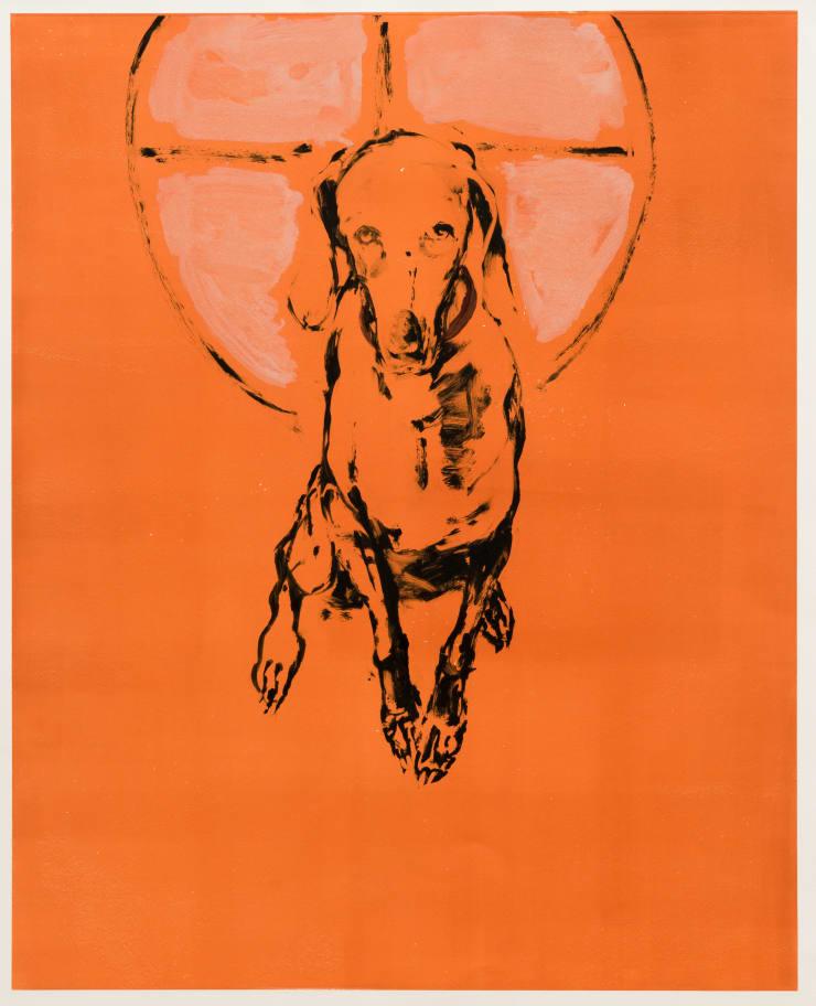 Shelly Tregoning Sapphy Dog, 2019 Monoprint 112 x 91 cm