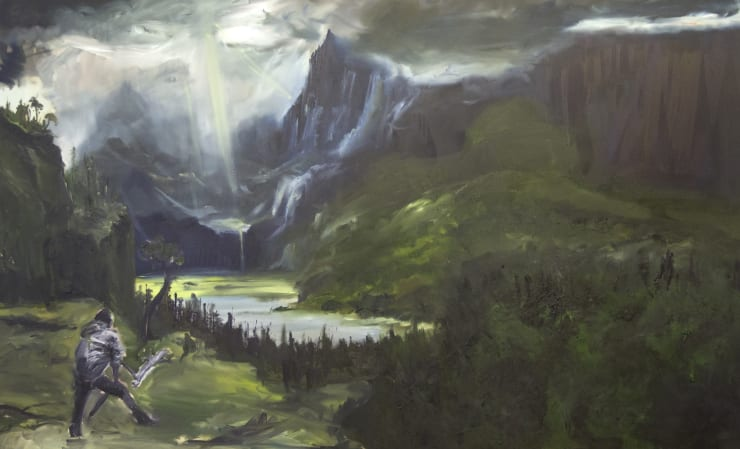 Blair McLaughlin Disintegration I, 2017 Oil on canvas 63 × 102 2/5 in 160 × 260 cm