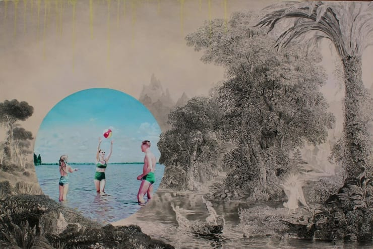 Morwenna Morrison The Sun Worshippers, 2017 oil on canvas 39 2/5 x 59 2/5 in100 x 150 cm