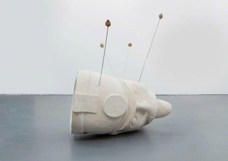 Hamish Pearch It's not a balloon, it's my head sculpturealuminium, jesmonite, poppy heads, cast walnuts 70 9/10 × 39 2/5 × 39 2/5 in180 × 100 × 100 cm