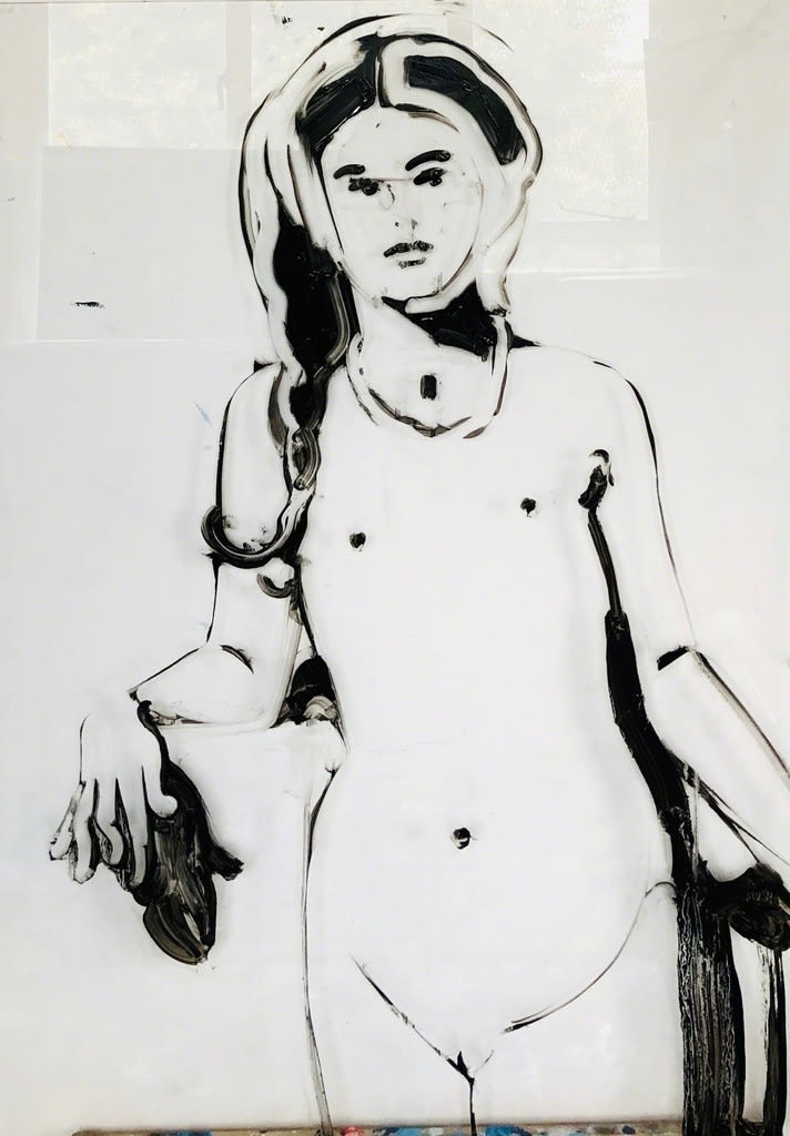Ilona Szalay Seeker, 2019 Oil on glass