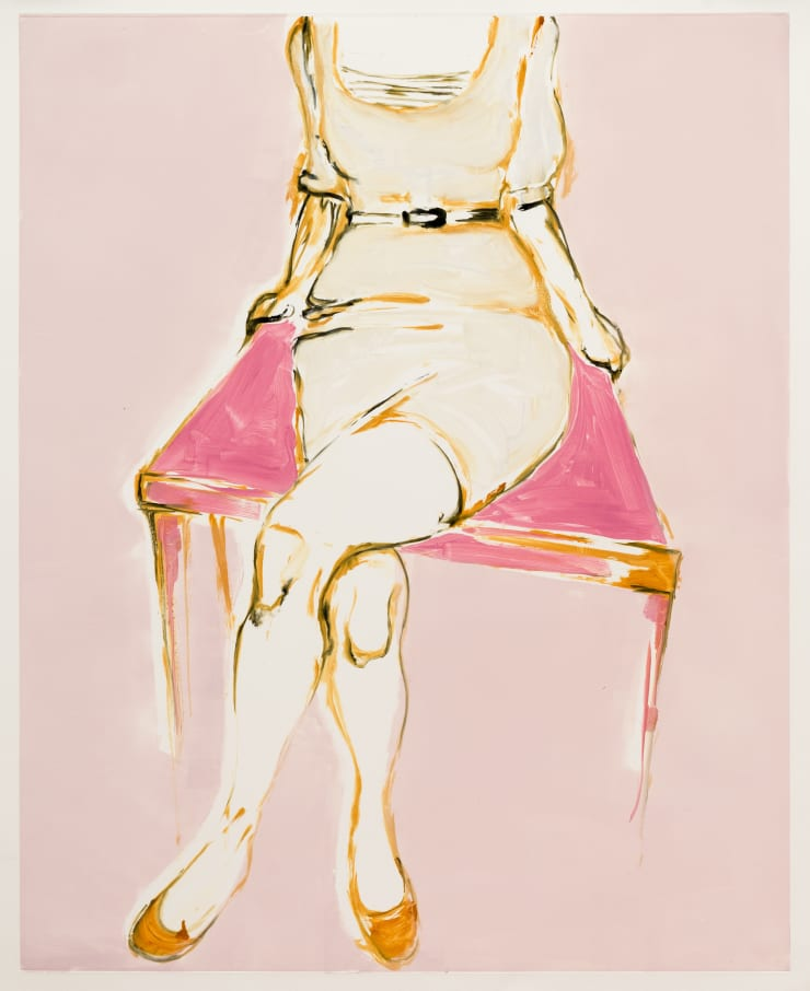 Shelly Tregoning The Pink Table, 2019 Monoprint 112 x 91 cm