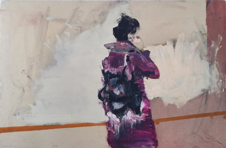 Blair McLaughlin Woman in riot Oil on canvas 15 7/10 × 23 3/5 in 40 × 60 cm