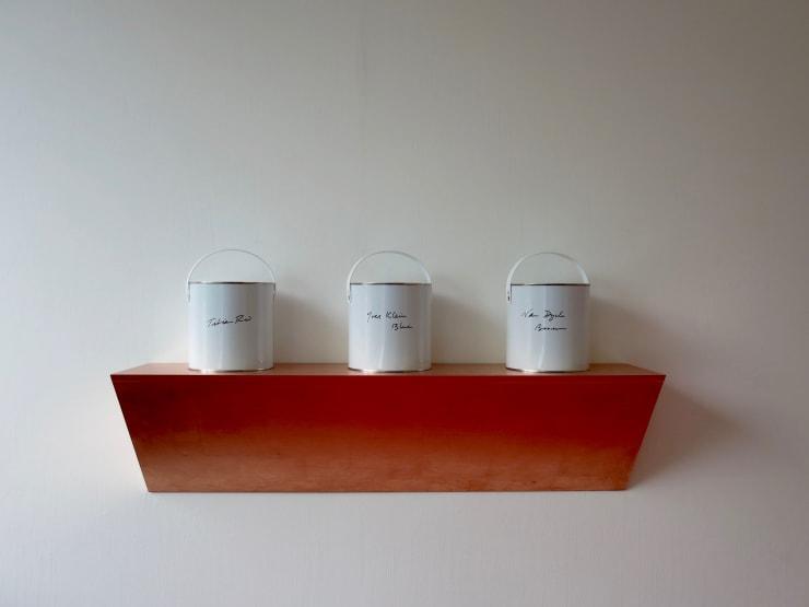 Eleanor McCullough Old Master Collection (shelf), 2017 Gilt copper on MDF shelf