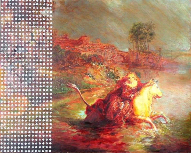 Morwenna Morrison The Flight of Europa Oil on panel 40 x 50 cm