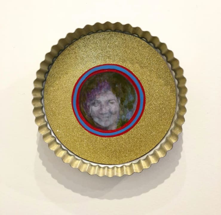 Sandra Attales Wife of the Year Mixed Media on Tart Pan 8.25 in 21 cm