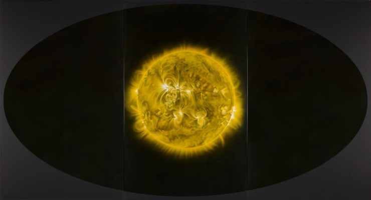 Giles Alexander I am part of the sun as the eye is part of me Oil and Resin on Canvas 150.2 x 280 cm 59 1/8 x 70 7/8 in