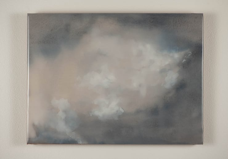 Todd McMillan Cloud Study LXV, 2019 Watercolour on cotton watercolour paper on plywood, epoxy 28 x 38 cm 11 1/8 x 15 in