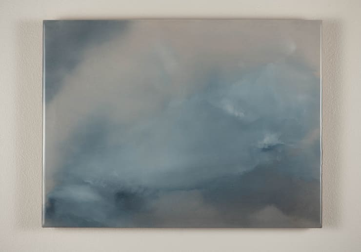 Todd McMillan Cloud Study LXIV, 2019 Watercolour on cotton watercolour paper on plywood, epoxy 28 x 38 cm 11 1/8 x 15 in