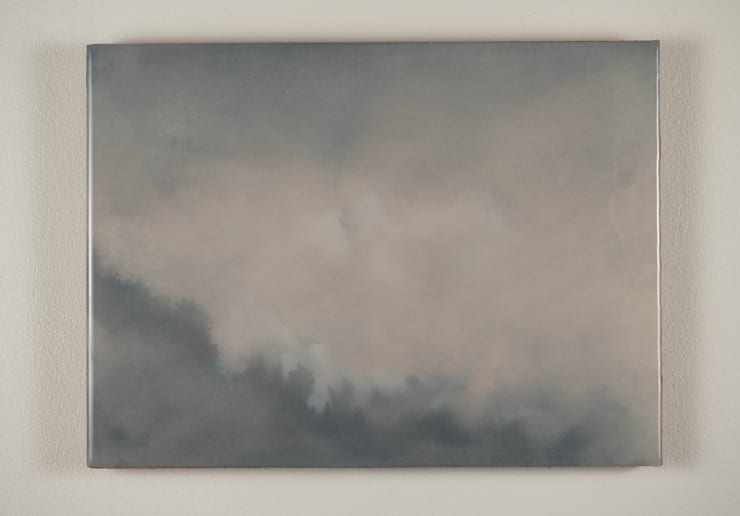 Todd McMillan Cloud Study LXIII, 2019 Watercolour on cotton watercolour paper on plywood, epoxy 28 x 38 cm 11 1/8 x 15 in