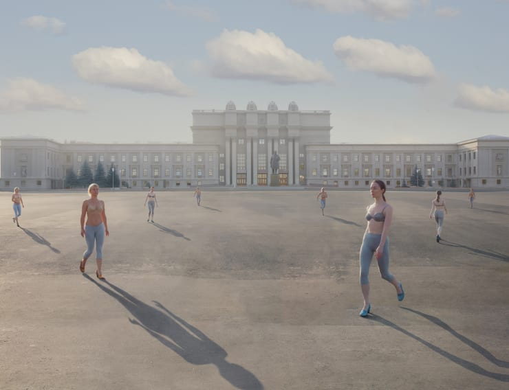Katerina Belkina Kuybyshev Square, 2014 Archival Pigment Print 100 x 130 cm 39 3/8 x 51 1/8 in Edition of 6 plus 2 artist's proofs Series: Light and Heavy