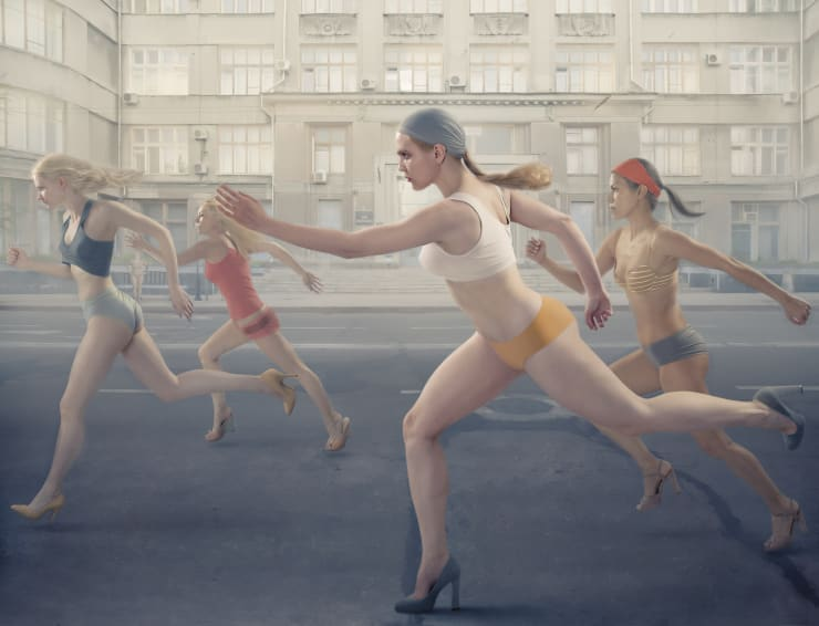 Katerina Belkina The Race, 2014 Archival Pigment Print 100 x 130 cm 39 3/8 x 51 1/8 in Edition of 6 plus 2 artist's proofs Series: Light and Heavy