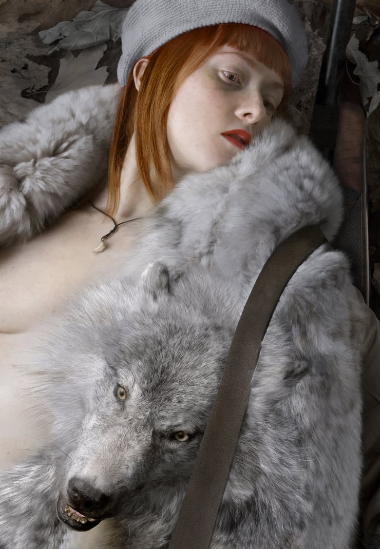 Katerina Belkina Red Riding Hood. Justified Cruelty, 2006 Archival Pigment Print 110 x 76 cm 43 1/4 x 29 7/8 in Edition of 9 plus 2 artist's proofs Series: Not a Man's World