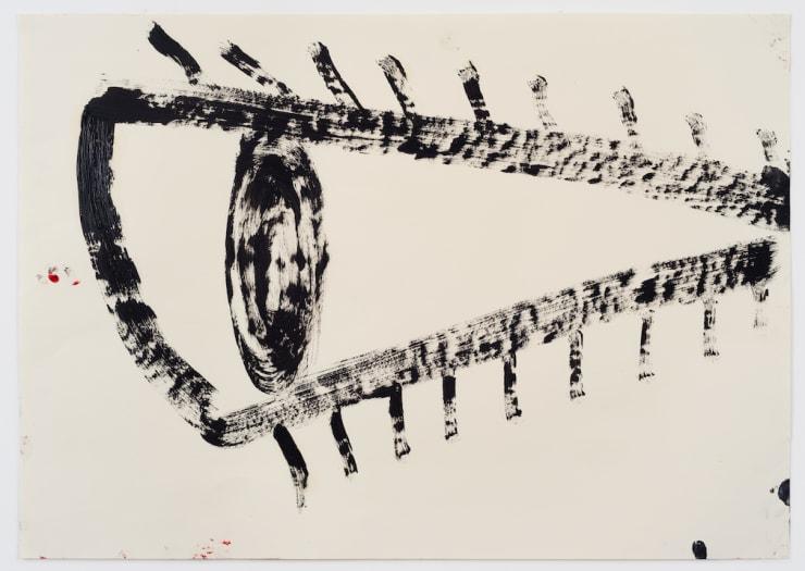 Rose Wylie Black Eye, 2018 Oil on paper 23 1/2 x 33 1/8 in 59.6 x 84.1 cm