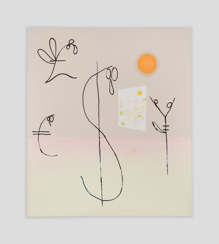 """Florian Meisenberg From the series: """"San Pellegrino (The taste of metal in water)"""", 2018 Oil, white gesso, transparent gesso on canvas 96 x 84 in 243.8 x 213.4 cm"""