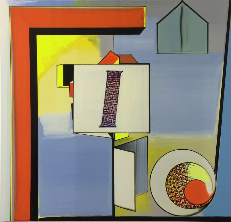 Thomas Scheibitz Plan, 2016 Oil, vinyl, pigment marker on canvas 74 7/8 x 78 3/4 in 190.2 x 200 cm