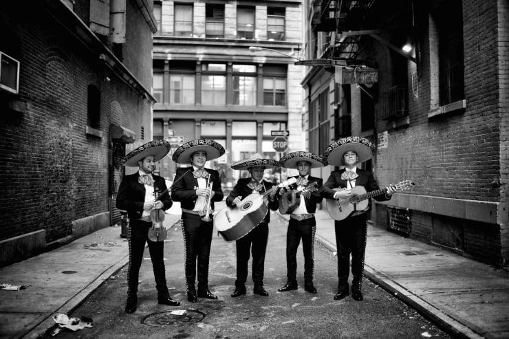PHIL PENMAN, Mariachi Band in Soho, New York, 2014