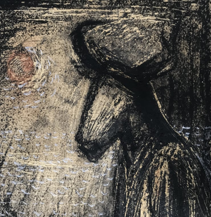 Davina Jackson Minotaur, 2018 Pencil, charcoal, conte and gouache on paper 25 x 20 cm 9.8 x 7.9 in