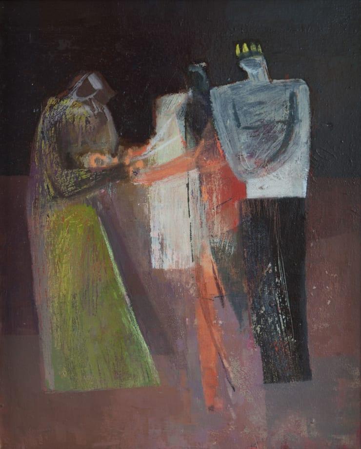 Davina Jackson The Judgement of Solomon II, 2018 Oil on canvas 40 x 33 cm