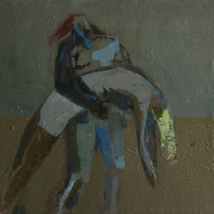 Davina Jackson The Death of Hector, 2019 Oil on canvas 25 x 25 cm 9.9 x 9.9 in