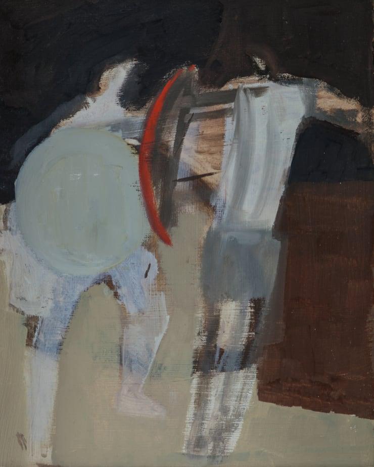 Davina Jackson The Duel, 2018 Oil on board 26 x 22 cm 10.3 x 8.6 in
