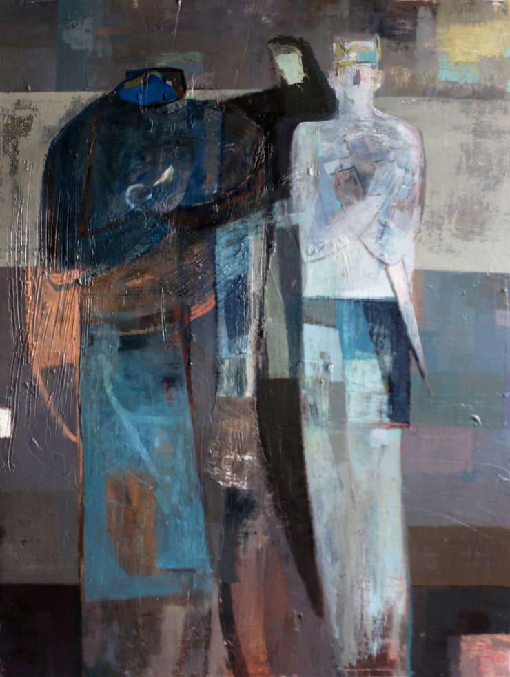 Davina Jackson The Judgement of Solomon, 2019 Oil on canvas 120 x 90