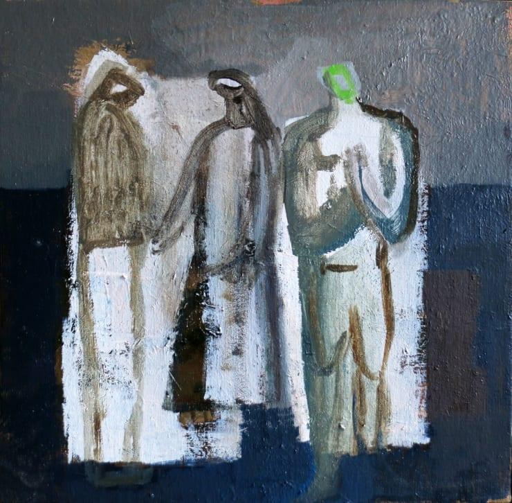 Davina Jackson The Judgement, 2018 Oil on canvas 30 x 30 cm