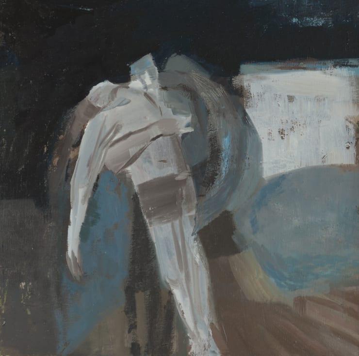 Davina Jackson The Death of Hector, 2018 Oil on board 30 x 30 cm