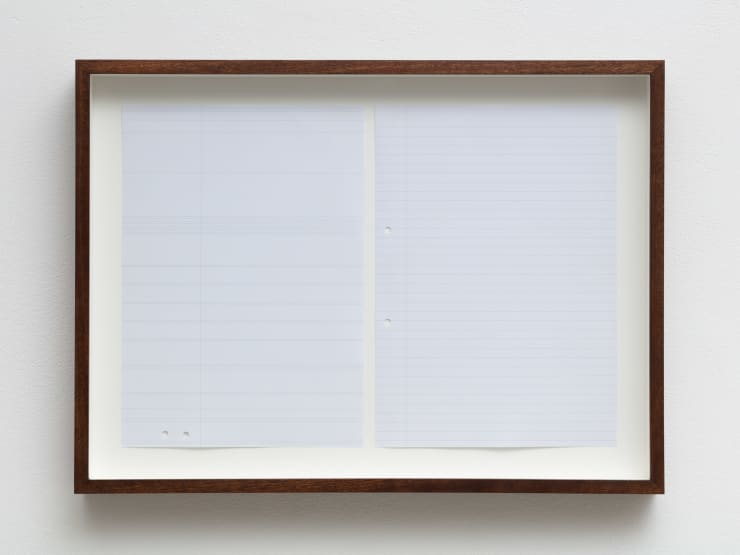 Dean Hughes, Two pieces of ruled A4 paper, 2010