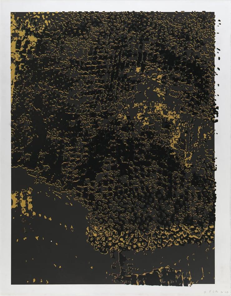 El Anatsui, Untitled (Black Frame), 2013