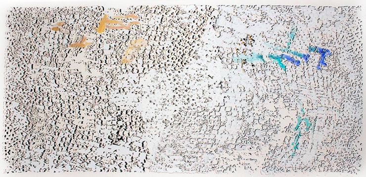 El Anatsui, Untitled (Gold with Blue) , 2013