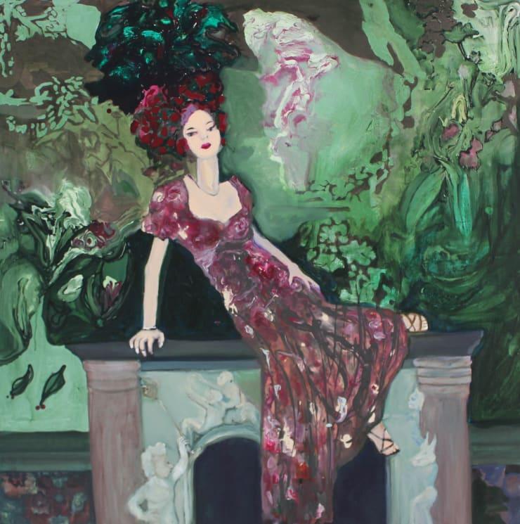 Rhiannon Salisbury Paradise Garden, 2018 acrylic on canvas 100 x 100 cm