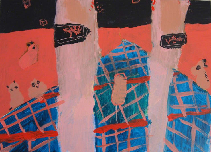Tahnee Lonsdale within 1, 2016 acrylic on board 7 9/10 × 3 9/10 × 4/5 in20 × 10 × 2 cm