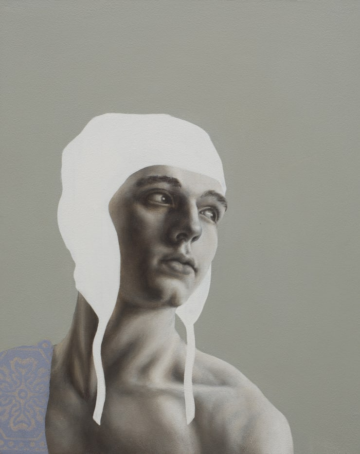 Pippa Young Self-reflection, 2016 Oil on cradled panel 11 4/5 × 9 2/5 in 30 × 24 cm