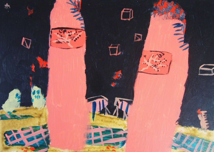 Tahnee Lonsdale within 2, 2016 acrylic on board 7 9/10 × 3 9/10 × 4/5 in20 × 10 × 2 cm
